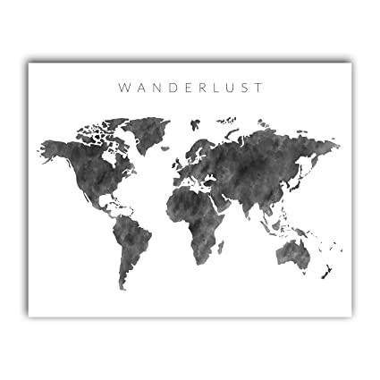 Amazon.com: Squareious Watercolor World Map Poster, Large ...