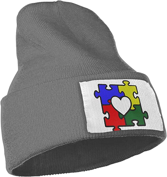 Mens and Womens Love Puzzles Autism Awareness Knitting Hat Thick Skull Cap