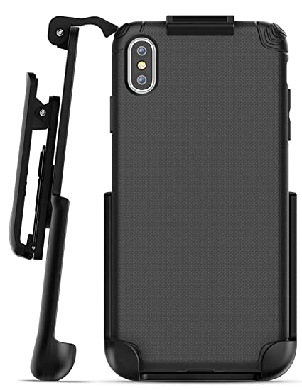 best service ade1e d1bb8 Encased iPhone Xs MAX Belt Clip Holster Case, Ultra Thin Grip Protective  Cover with Belt Holder for Apple iPhone Xs MAX Phone (Nova Series) Black
