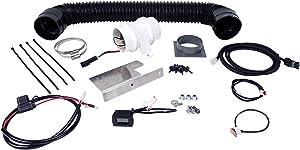 Design Engineering 010875 Auxiliary Fan Kit 3 in. Digital Display w/Adjustable Temperature Control Plug And Play Wire Harness Auxiliary Fan Kit
