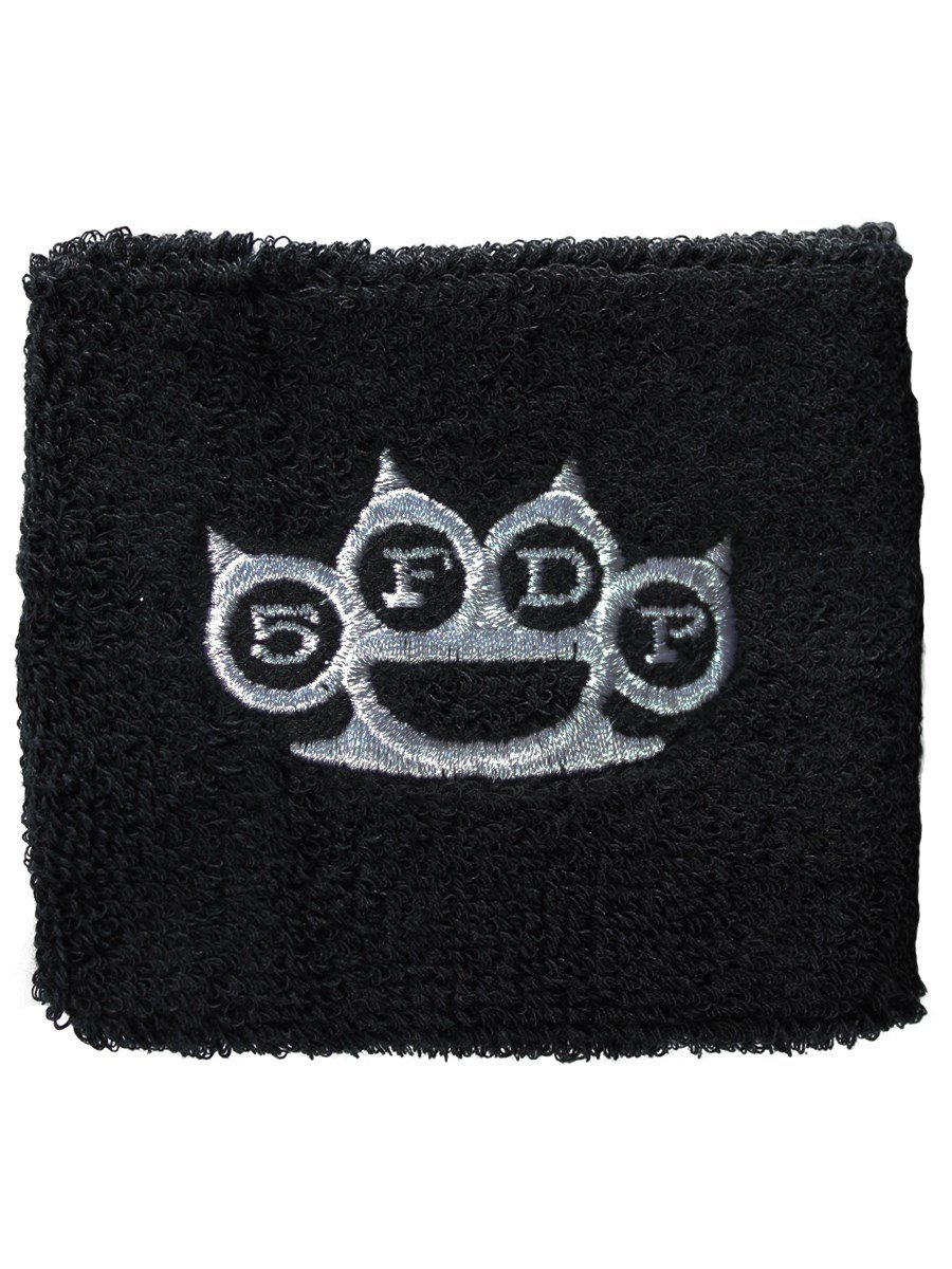 Five Finger Death Punch Knuckles logo nuevo Oficial negro Cotton Sweatband