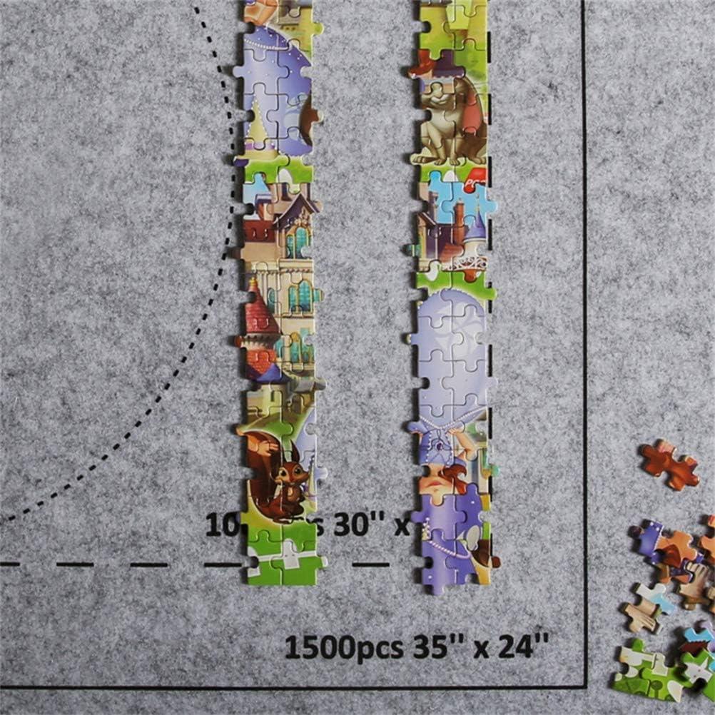Tapis de Puzzles Grand pour Jusqu/à 1500 Pi/èces Tapis de Jeu de Puzzle Rouleau de Puzzle Tapis de Feutre Ensemble de Couverture de Stockage de Voyage, YUYAOSH Rouleau de Puzzle Environ 66 x 117cm