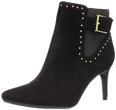 Calvin Klein Women's Jozie Ankle Bootie, Black Suede/Stretch, ...