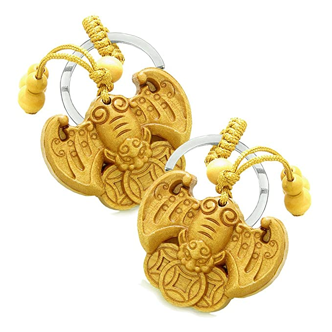 Amazon Amulet Flying Bat Lucky Coins Magic Protection Powers