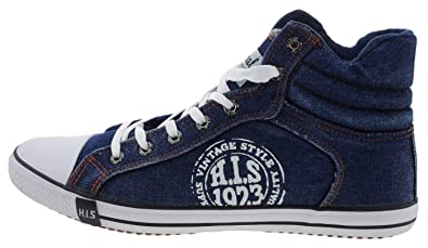 445002220 High Jeans His Sneaker Blau Top TlKuFJ31c