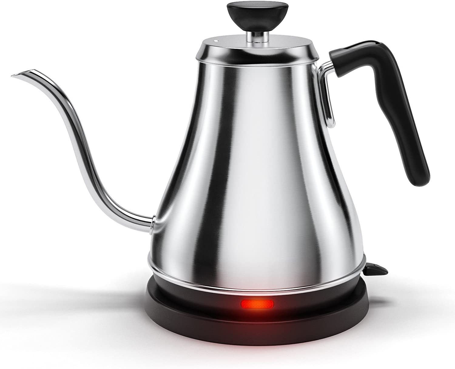 Electric Gooseneck Kettle – Rapid Boil Electric Kettle Water Heater for Pour Over Coffee and Tea – 1L Water Boiler Tea Kettle Teapot Dripper