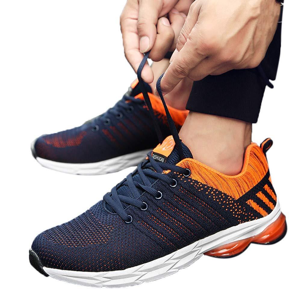 JiaMeng Hombre Zapatillas de Senderismo Deportivas Aire Libre y Deportes Montaña y Asfalto Zapatos para Correr Deporte Zapatos Ocasionales Respirables ...
