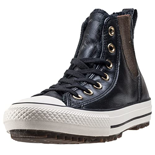 b69e871b1a2b Converse Chuck Taylor All Star Women s Leather and Faux Fur Chelsee Black  553392C-001 (