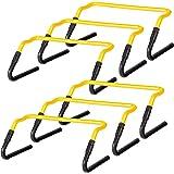 Ultrasport - Vallas de coordinación, Set de 6, Altura Regulable de 20/30 cm