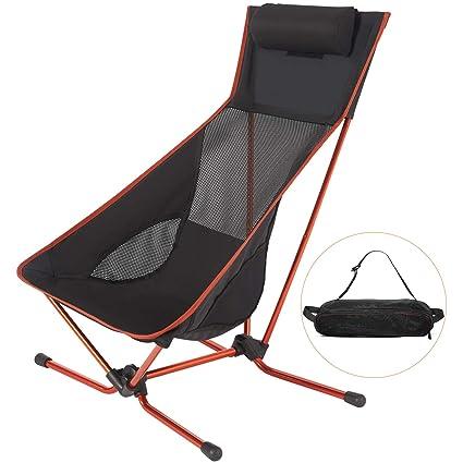 Amazon.com: Silla de camping ligera y plegable con ...