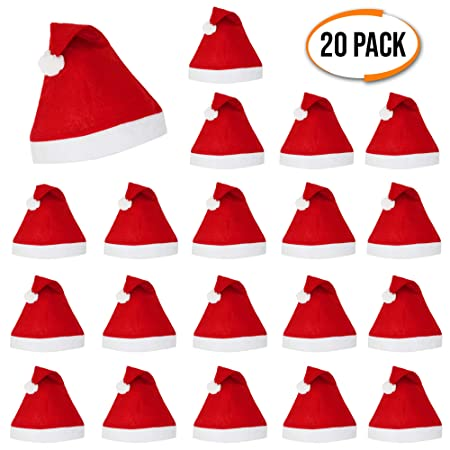The Twiddlers 20 Pack - Festive Father Christmas Felt Hats - Men   Ladies  Sexy Santa 9c33d23109dd