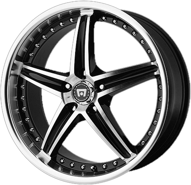 Motegi MR107 18x8 5x112 42mm Black//Machined Wheel Rim 18 Inch