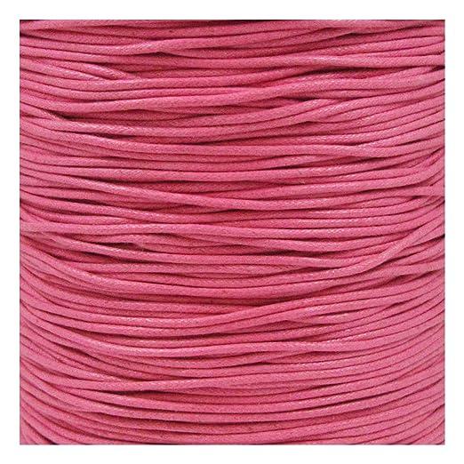 Cordón de algodón encerado de 10 m x 2 mm, 21 colores, para ...
