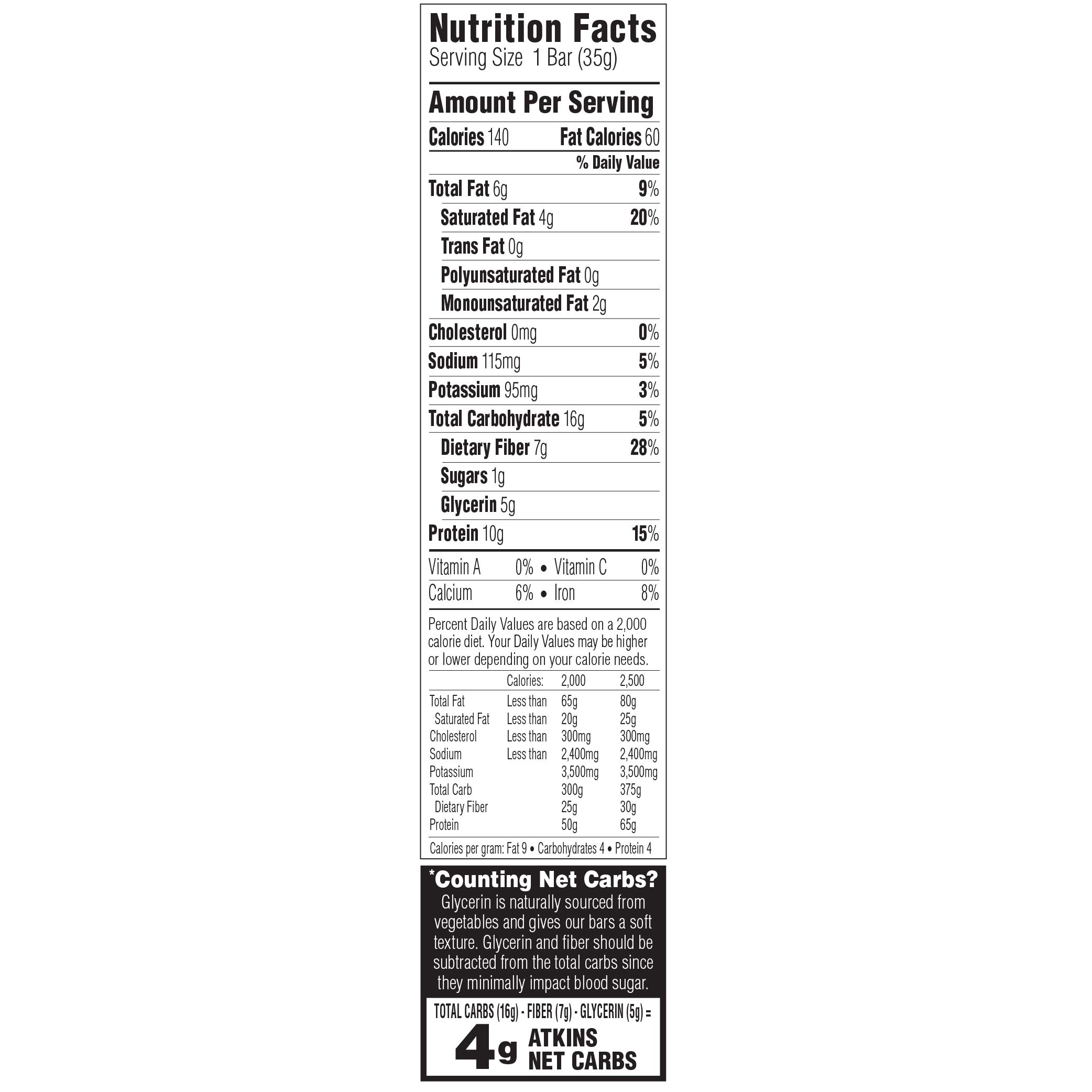 Atkins Day Break Bars, Chocolate Chip Crisp, 5 Count, 1.2-Ounce Bars (Pack of 3) by Atkins (Image #2)