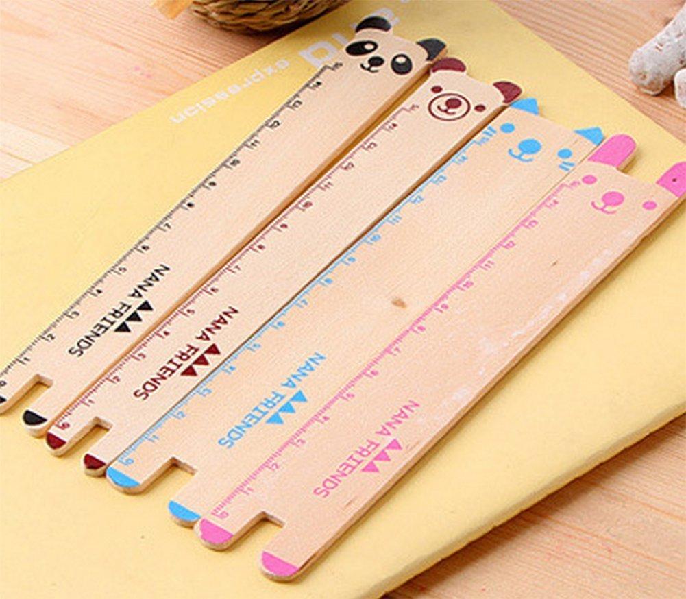 multicolor 4 unidades, 15 cm Regla de papeler/ía para estudiante Spaufu