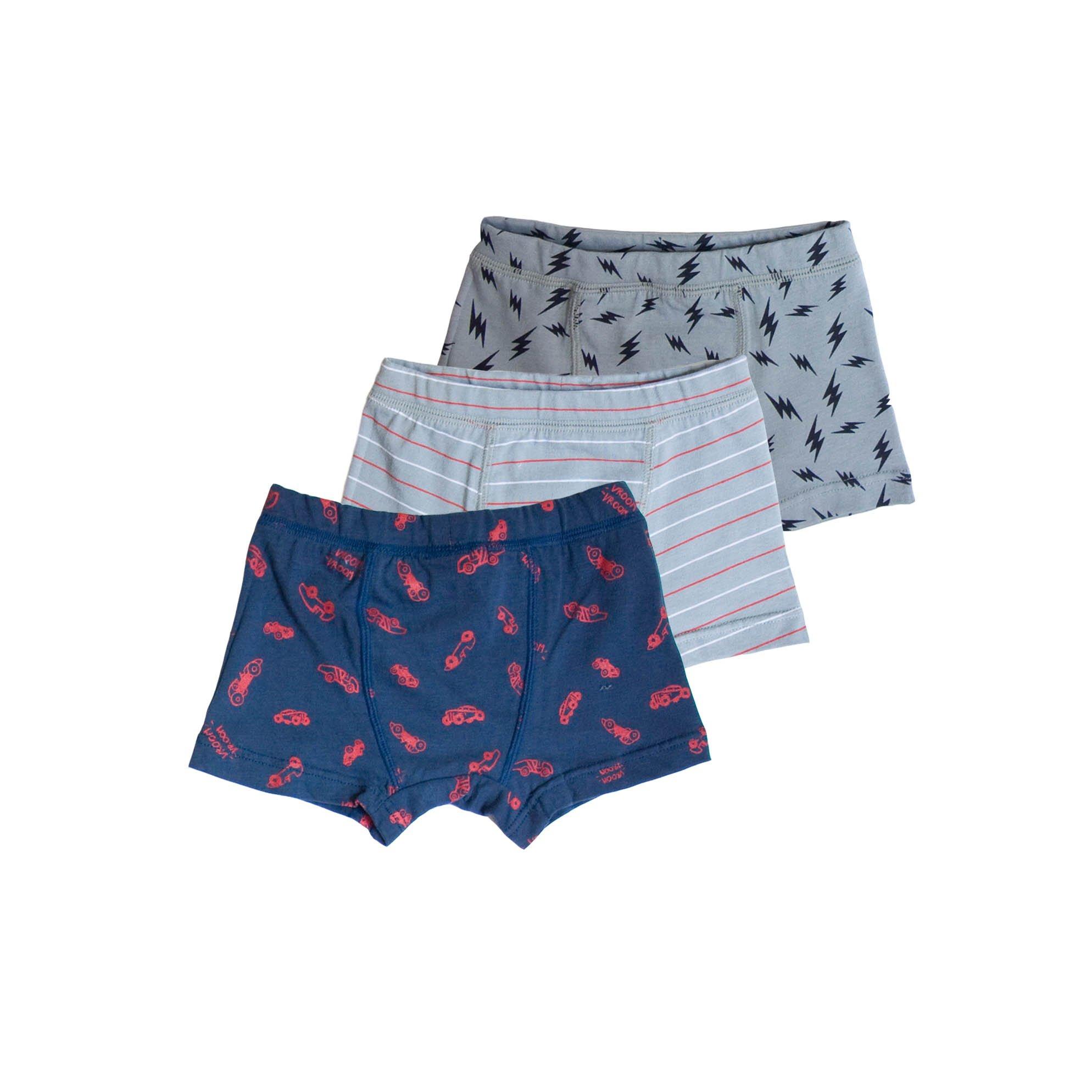 Skylar Luna 3 Pc Toddler Boxer Brief Set- Speed Print Toddler Size 4