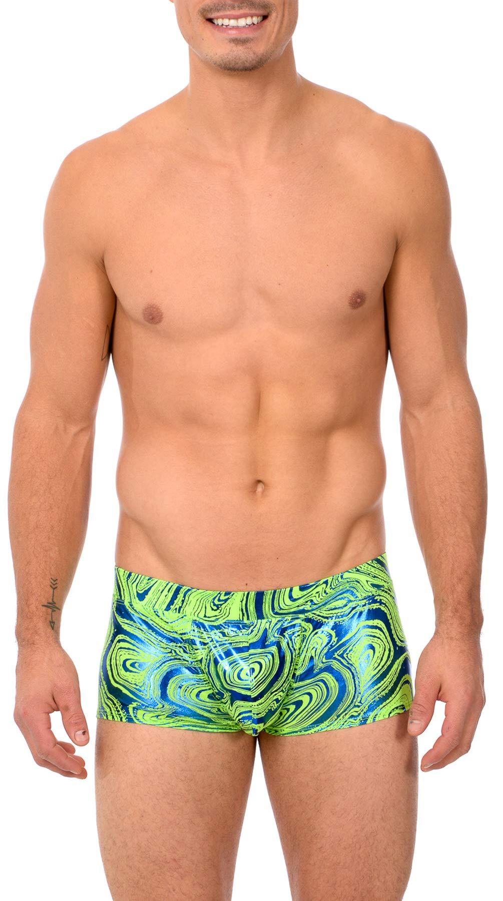 822e3147759 Galleon - Gary Majdell Sport Mens Print Contour Pouch Bikini Swimsuit  (X-Large, Lava_LIM_RYL)