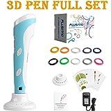 Plusinno® Stampante fai da te Scribbler Penna 3D con schermo a cristalli liquidi per il 3D Scribbler stampa, Disegno e Doodling + 13 PLA filamento (10 colori differenti) + 10 modelli di carta per la pratica EU