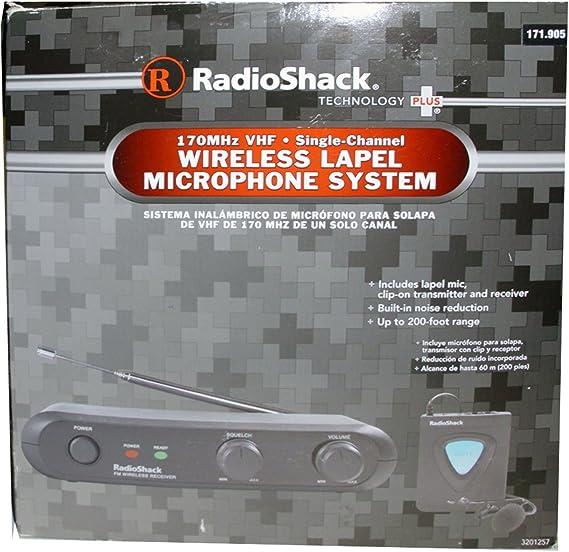 Radioshack – Sistema de micrófono de solapa inalámbrico 32 – 1257