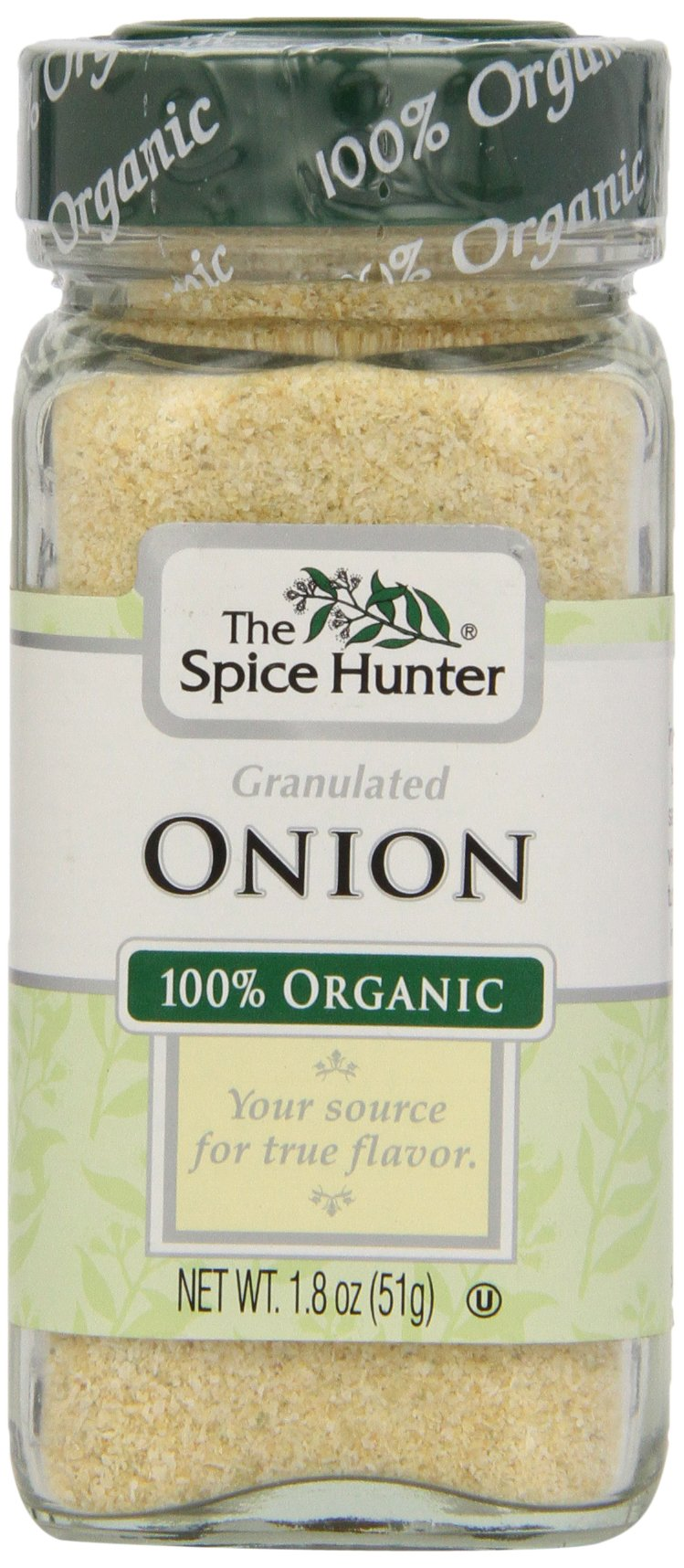 The Spice Hunter Onion, Granulated, Organic, 1.8 Ounce Jar (Pack of 48)