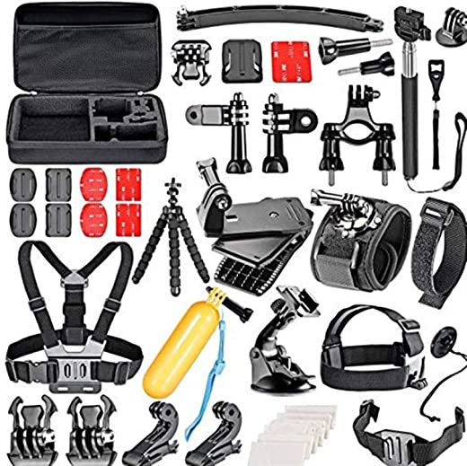 50 in 1 Gopro Accessories Kit for GoPro Hero4 Session Hero1 2 3 3 and Other Outdoor Sports camera