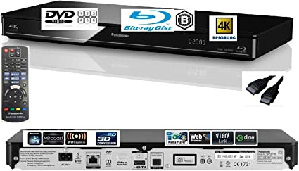 Panasonic Dmp Bdt380 Multiregion For Dvd Smart 4k Upscaling Blu Ray Player With Built In Wifi Miracast 3d Conversion And Dlna