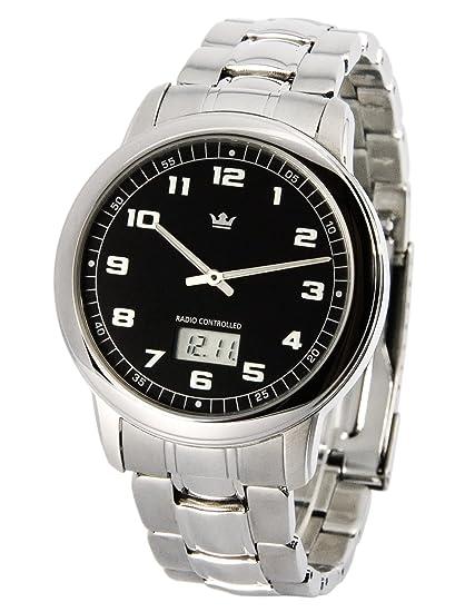 Reloj de hombre elegante Marqués (Junghans-negras) caja y brazalete de acero inoxidable 964.4001: Amazon.es: Relojes