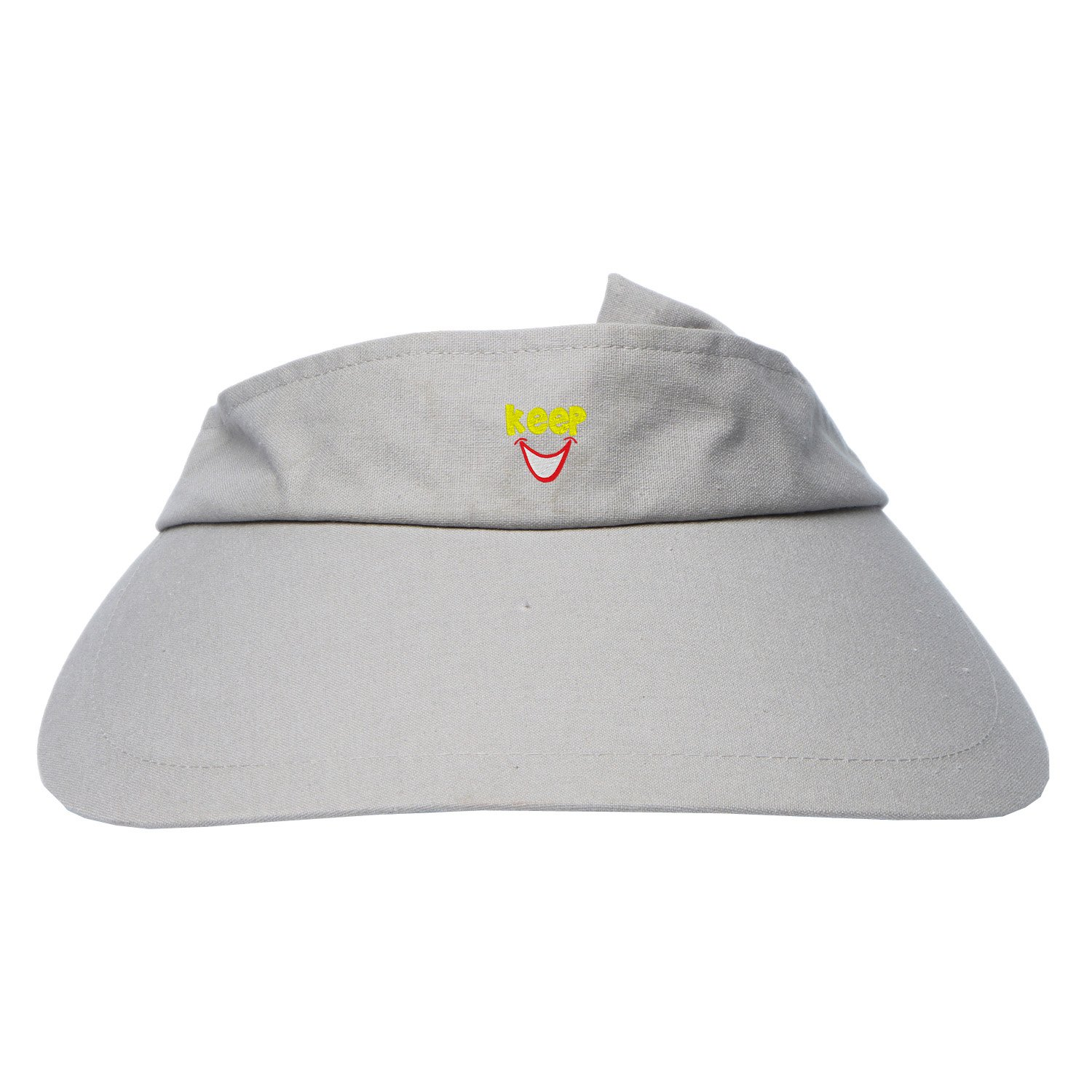 Womens Summer Embroidery blushing smiley face UV Protection Sun Visor Hat at Amazon Womens Clothing store: