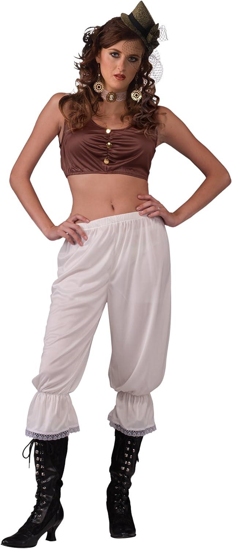 Forum Novelties Steampunk Pantaloons, White, One Size( Fits Up To Size 14-16): Clothing