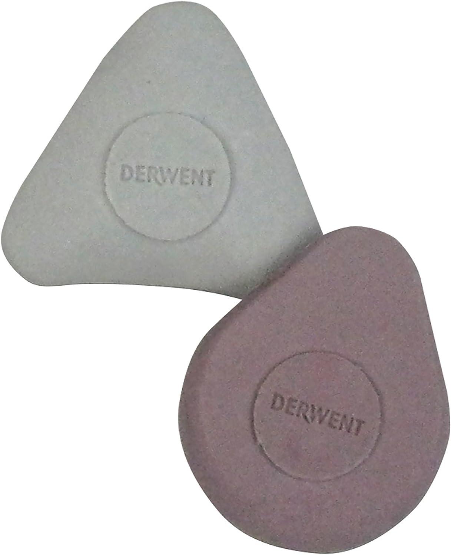 Derwent Shaped Eraser Twin Pack
