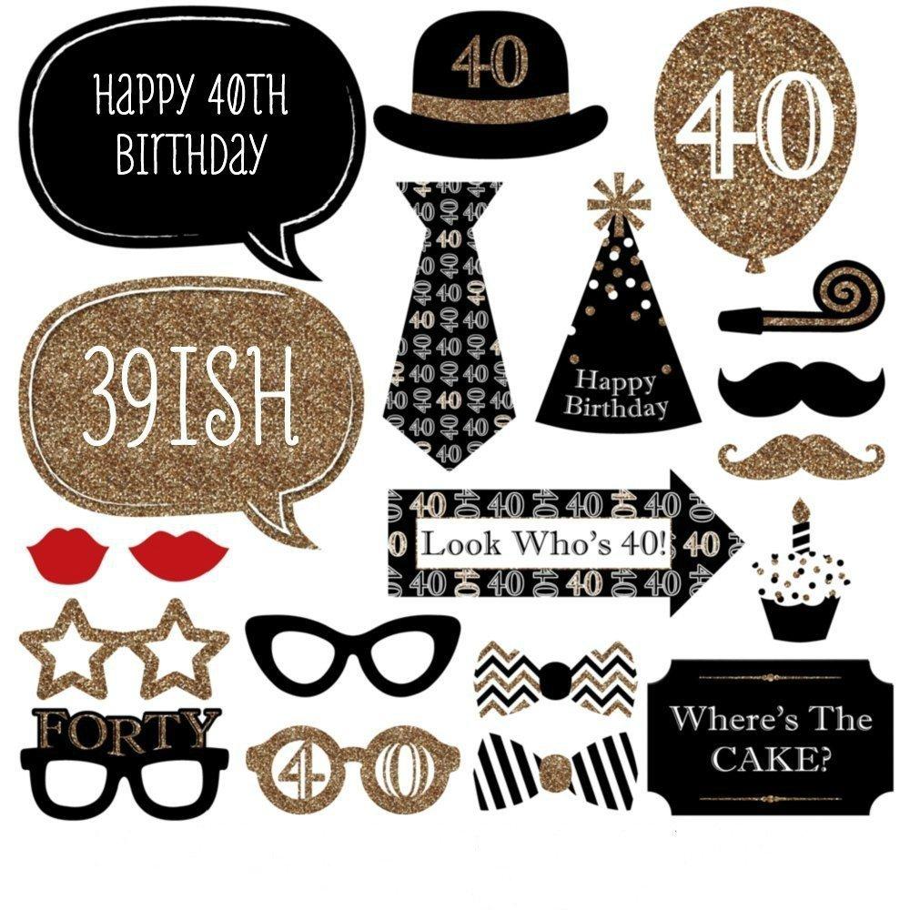 Kit de accesorios de decoración divertidos para bodas de 30 cumpleaños, 40 cumpleaños, 20 unidades, estilo de hombre y mujer, ideal para fiestas o ...