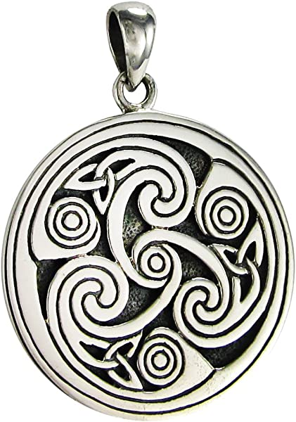 Amazon sterling silver celtic knot triskele triskelion pendant amazon sterling silver celtic knot triskele triskelion pendant jewelry aloadofball Image collections
