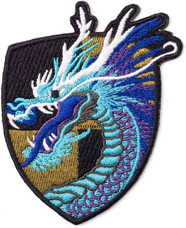 Amazon.com: YOUOR Chinese Style Dragon Embroidery Patch Dragon Badge  Armband Iron on Sew On Patches (Blue): Arts, Crafts & Sewing