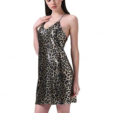 Leopard print short dress women deep V neck halter Sexy night party dress Backless vintage mini