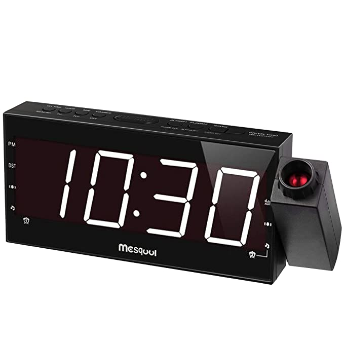 Mesqool Projection Alarm Clock - The Easy-Adjust and Automatic