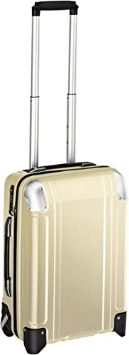 Zero Halliburton Geo Polycarbonate Carry On 2 Wheel Travel Case, Polished Gold, One Size