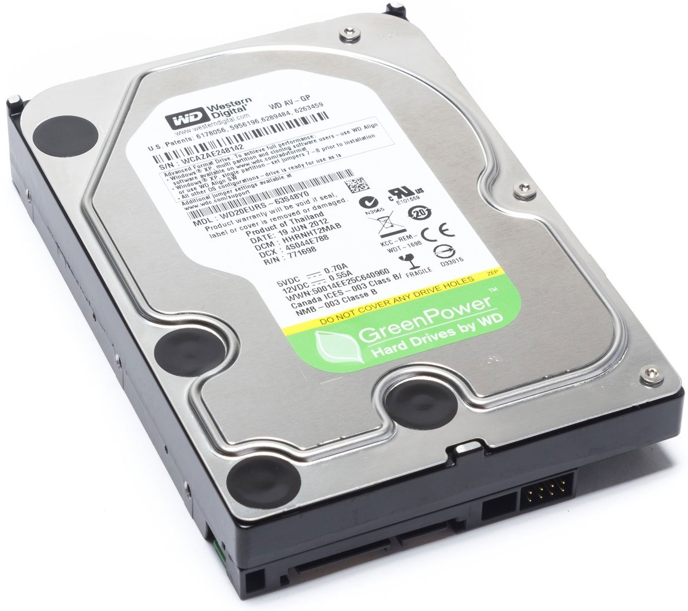 Western Digital 3 TB WD AV-GP SATA III Intellipower 64 MB Cache Bulk/OEM AV  Hard Drive WD30EURX