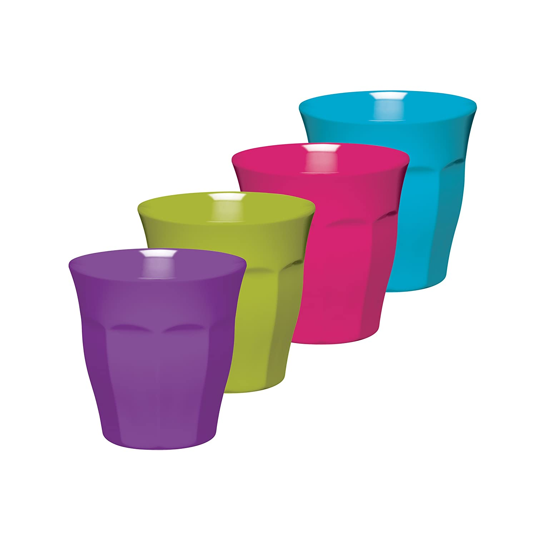 colourworks melamine tumblers 225 ml multicolour set of four