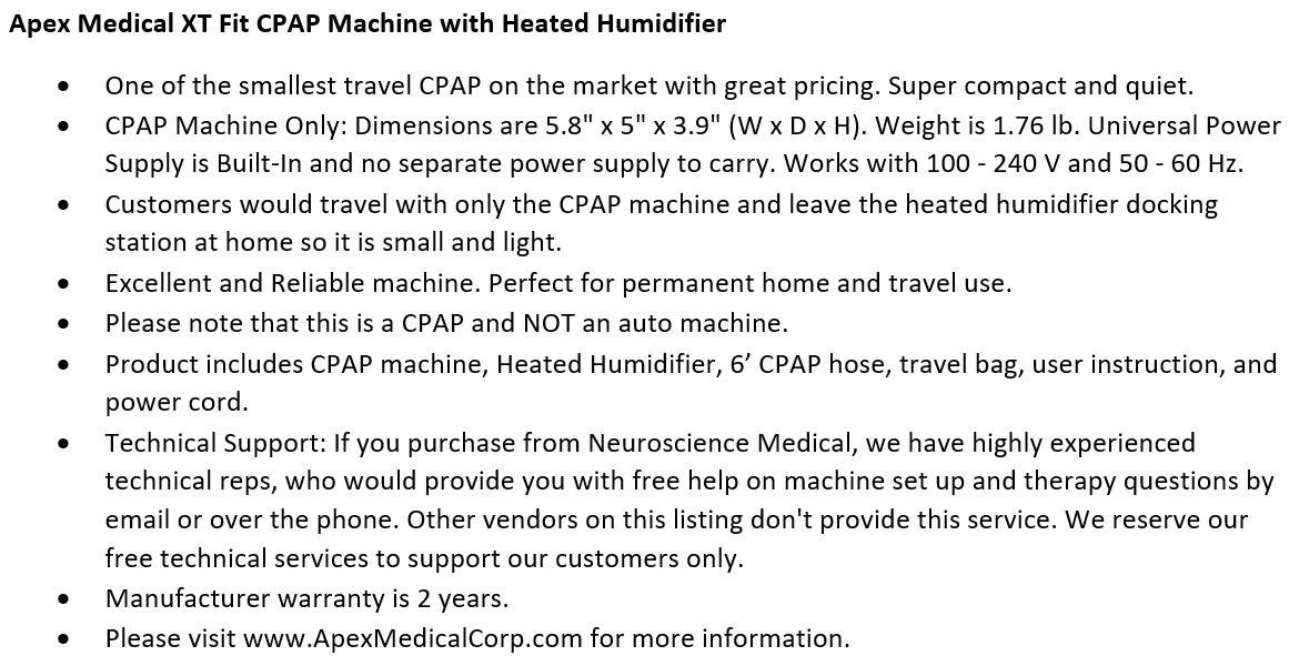 _Apex_Medical_XT_Fit_Travel_C.P.A.P_Machine-with_Heated_Humidifier_
