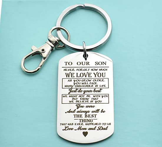 Amazon Son Keychain In Stainless Steel Teen Boy Gift Birthday 16th 18th From Mom To Handmade
