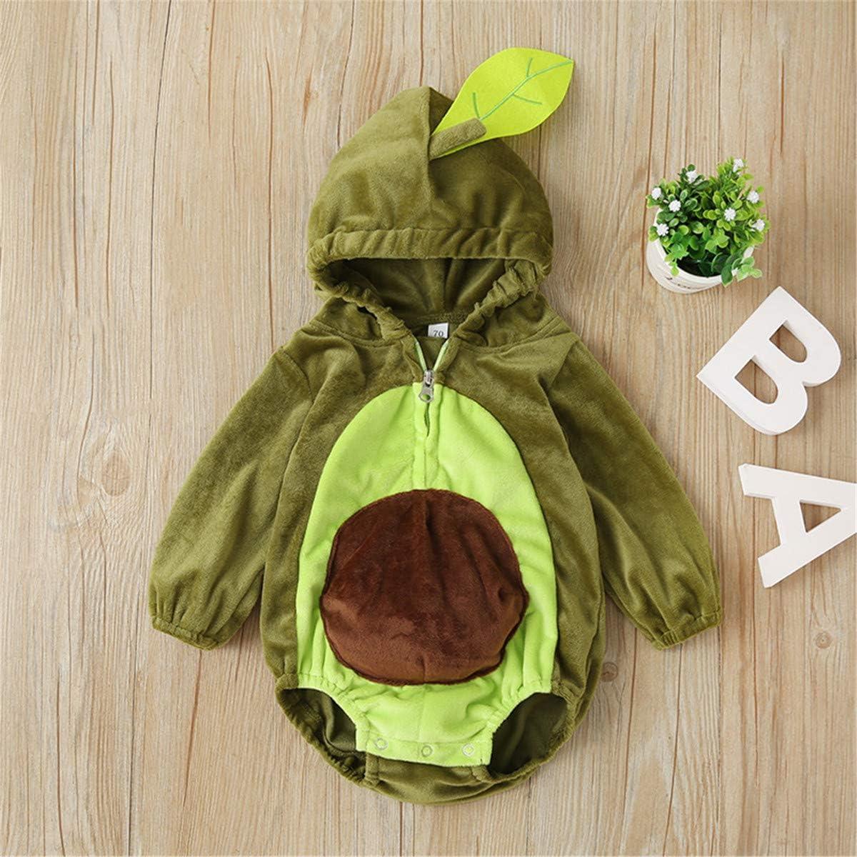 bebeshopdelageyhu Infant Toddler Baby Halloween Costumes Cute Hoodie Romper Jumpsuit Warm Costume Clothes