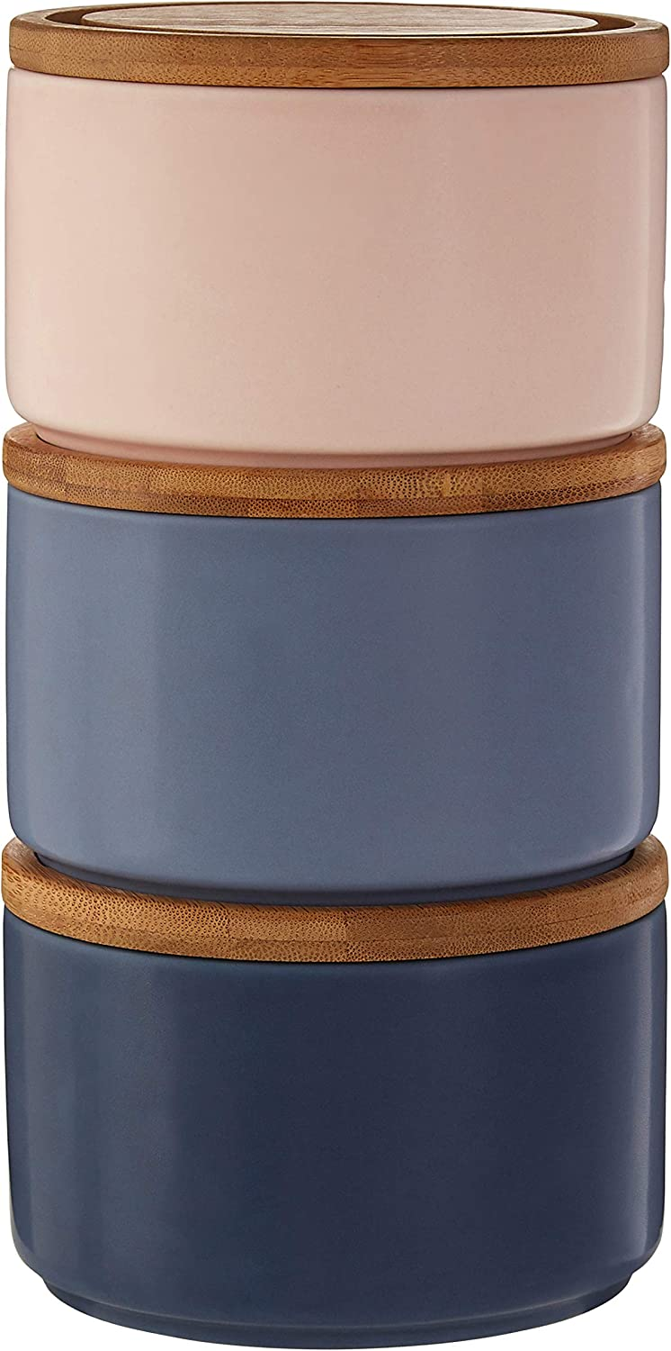 Bamboo Premier Housewares 0723017 Canister Dolomite Blue//Pink