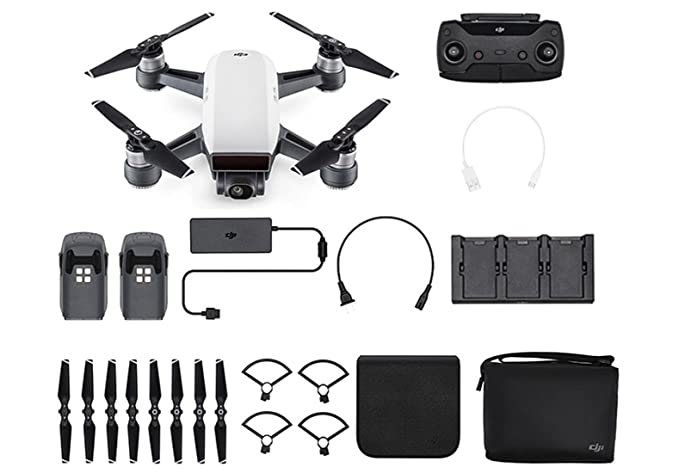 Dji by Devicekart Spark Fly More Combo Selfie Drone (Alpine White)