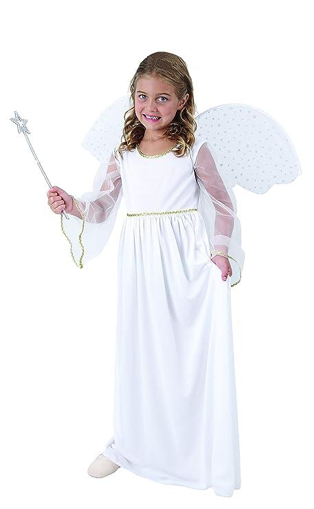 Disfraz de Ángel Navideño con alas, de talla 110 hasta 140 ...
