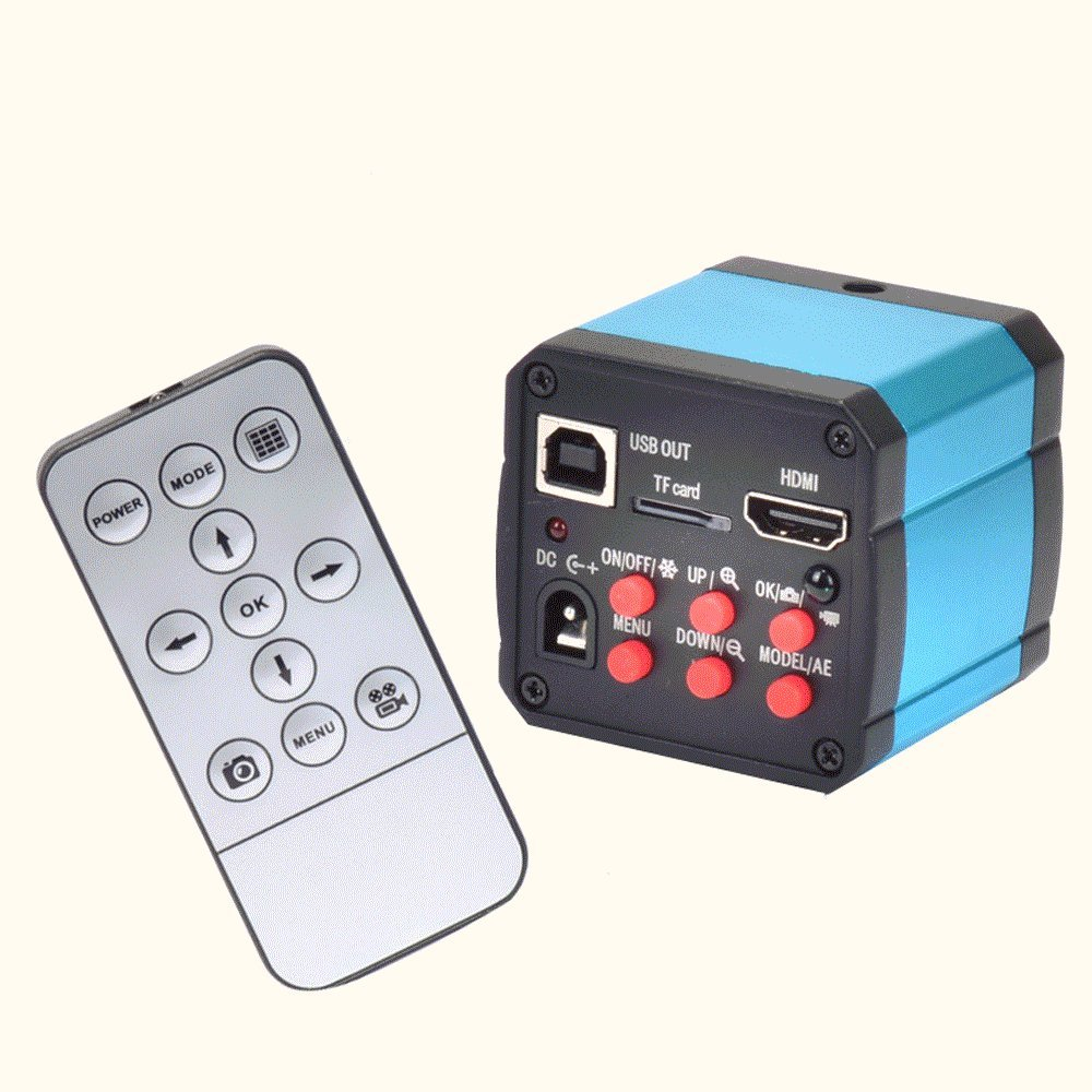 Finlon 14MP TV HDMI USB Industry Digital C-mount Microscope Camera TF Video Recoder DVR