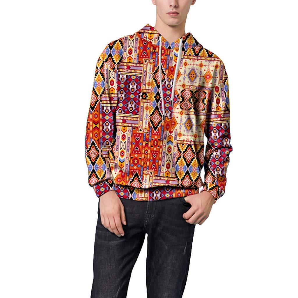 ✦HebeTop✦ Unisex 3D Printed Hoodies Casual Pouch Pocket Drawstring Hoodied Sweatshirt