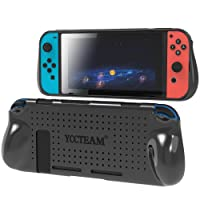 Protective Case for Nintendo Switch, Grip Cover with Shock Absorption and Anti-Scratch Design - Comfortable TPU Case for Nintendo Switch Console (Black)