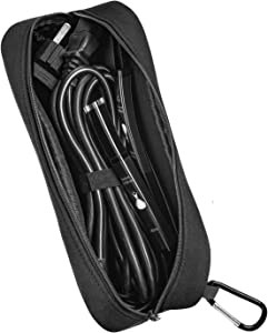 Neoprene Laptop Charger Pouch,Electronics and Laptop Accessories Case,Cord Cable Pouch,Black