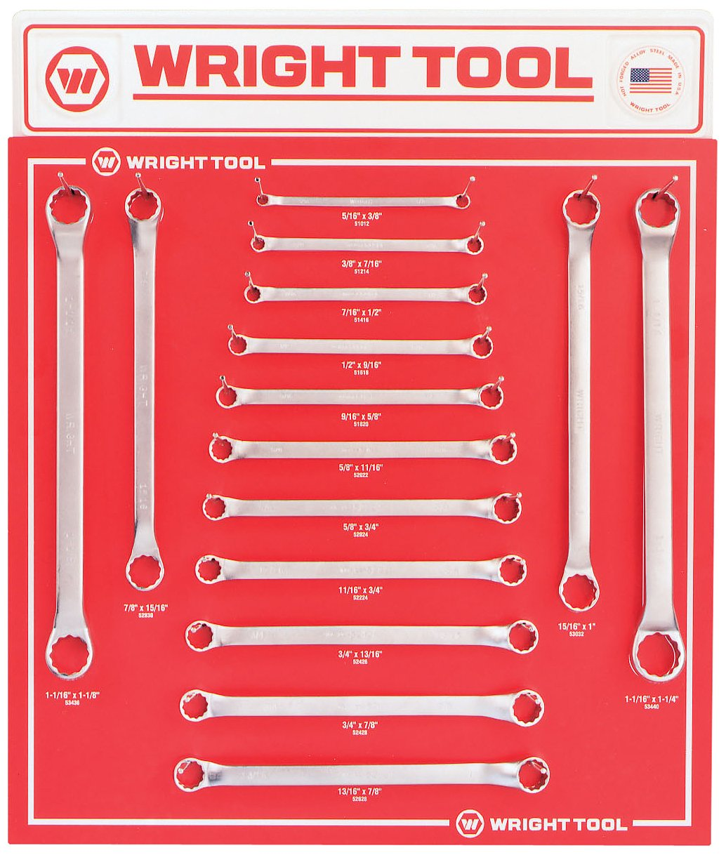 Wright Tool D942 Fractional 12-Point Double Box End Wrenches