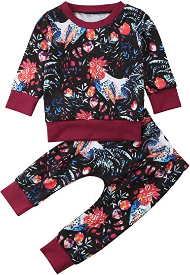Pants Tracksuit Outfits Set Lady Toddler Kids Girls Clothes Sweatshirt Tops